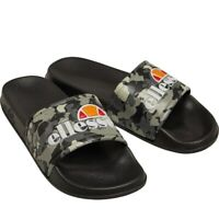 Ladies Ellesse Sliders Sandals Shoes SlipOn Sports Pool FlipFlop Camo Grey Black