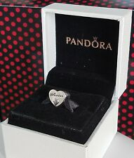 Authentic Pandora Sister's Love Charm #791946PCZ W/ Pandora HINGED BOX