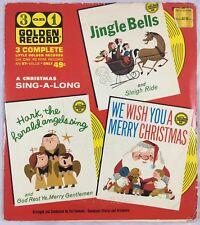 1948 Three 3 On 1 One Golden Record Christmas Jingle Bells Hark We Wish You