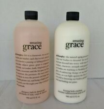 Set of Philosophy Amazing Grace  Body Firming Emulsion and Shampoo 32oz No Pump