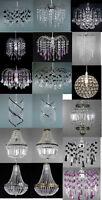 MODERN CEILING CHANDELIER PENDANT LIGHT LAMP SHADE ACRYLIC & K9 CRYSTAL DROP