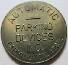 GOOD FOR PARKING ONLY AUTOMATIC PARKING DEVICES MICH STATE TOKEN. (K178)