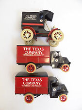 Vintage Lot Three Ertle 3027 Replica 1905 Ford Texas Company Trucks Coin Banks