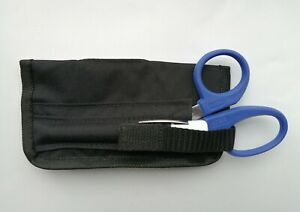 KITTED Tuff Cut Scissor + Pen Torch Pouch Ambulance Paramedic EMT Technician WHT