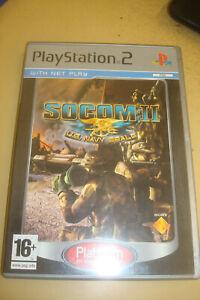Playstation 2 Socom II US Navy Seals Platinum Game