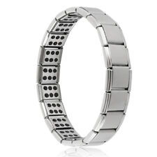 MENS MAGNETIC HEALING BRACELET PEWTER BANGLE ARTHRITIS PAIN RELIEF THERAPY