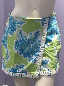 Crown & Ivy Skort Coral Print Women's Size 6