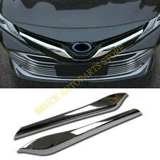 Chrome Front Upper Grill Griie Cover Trim j For Toyota  Camry 2018-2020 L/LE/XLE