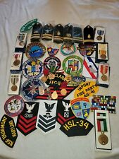 Us Navy Medal , Ribbons , Patches, Shoulder Boards Lot Here Look At All Pics