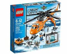 LEGO City 60034 Arctic Helicrane Helicopter w/2+4 minifigures Brand New Sealed