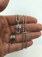 Stunning Sterling Silver Necklace -  Cz Angel  Pendant - 925 - #16