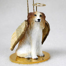 Borzoi Ornament Angel Figurine Hand Painted