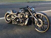 Custom Cnc Cut SS Center Panel Metal Trim Harley Davidson Vrod Night Rod Muscle