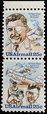1979 25c Wiley Post, Aviation Pioneer, Pair Scott C95-96 Mint F/Vf Nh