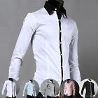 Gentleman Mens Formal White Collar Wed Tuxedo Formal Dress Shirts Causal Shirts