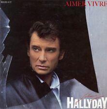 """Johnny HALLYDAY / AIMER VIVRE"" Cartoline promo originale 1985 31x31cm"