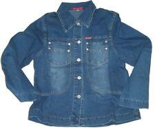 Womens Ladies Girls Blue Stone Wash Jeans Blazer Denim Jacket.size Large- 12-14