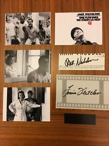 ONE FLEW OVER THE CUCKOO'S NEST Jack Nicholson & Louise Fletcher Signed Cuts COA