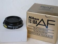 """Nikon TC-16A AF Teleconverter with caps/BOX, NEW OLD STOCK??? US SELLER """"LQQK"""""""