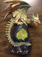 Dragon Skelleton on Egg Geode 7.75 inch Tall Figurine Statue Everspring EISR-67