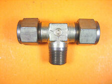 "Swagelok/Crawford -  1/2"" Tube x 3/8"" MNPT -  Brass Union Tee"