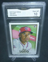 2018 Topps Gallery Juan Soto Rookie Card #126 GMA Graded Gem Mint 10