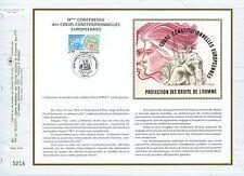 FEUILLET CEF / DOCUMENT PHILATELIQUE / PROTECTION DES DROITS DE L'HOMME 1993