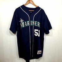Mens Ichiro Suzuki Majestic Seattle Mariners Baseball Jersey #51