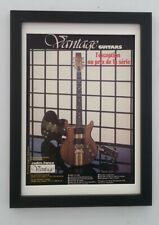 VANTAGE GUITARS*1981*ORIGINAL*French*A4*ADVERT*FRAMED*FAST WORLD SHIP