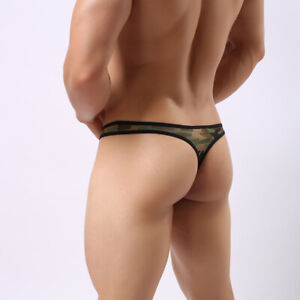 """Men's Sexy Army Green Camouflage Thong Size (Waist 28"""" to 38"""")  #185"""