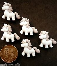 FAIRY TALE UNICORN Craft Buttons 1ST CLASS POST Baby Horse Nursery Pony Magic