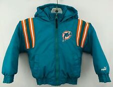 Vintage Puma NFL Miami Dolphins Full Zip Hooded Winter Jacket Size Kids M(5-6)