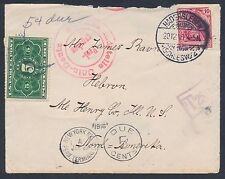 GERMANY #68 ON FOLDED LETTER W/ U.S. POSTAGE DUE #JQ3, ENCLOSURE INCLUDED BT7511