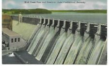 Postcard of Wolf Creek Dam, created Lake Cumberland, Ky, in the 50's