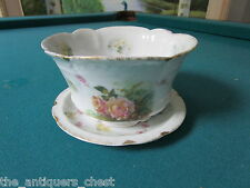 "Rosenthal Bavaria ""Carmen"" pattern,open sugar on a saucerr, flowers and gold[100"