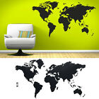 Large PVC World Map Wall Vinyl Decal Stickers Home Decor Removable Mural Art