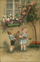 Hannes Petersen Children Play Guitars Music Foreign Greeting Postcard