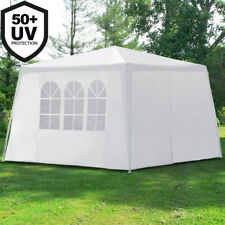 Garden Gazebo 3x3m White Pavilion Patio Outdoor Marquee Canopy Pop Up Party Tent