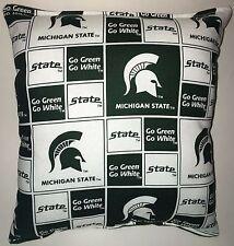 Spartan Pillow Michigan State Football Pillow Pillow NCAA HANDMADE In USA