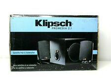 Klipsch ProMedia 2.1 Computer Speakers satellite pair and subwoofer New sealed