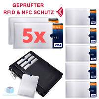 5x  RFID  Schutzhülle Blocker NFC Datenschutz Abschirmung EC Karte Kreditkarte