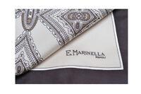 E. Marinella 100% Silk Scarves Tuch Schal Panno  Marrone seta   44 cm x 44 cm