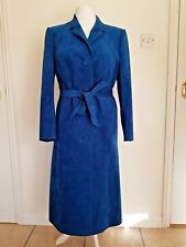 STUNNING VINTAGE HANDMADE SUEDE COAT TEAL LUXURY ICONIC BOHO 14-16 CHEST 44""