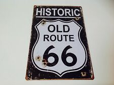 HISTORIC ROUTE 66 AMERICAN HIGHWAY  Wall art movie Sign Tin Plaque PICTURE USA