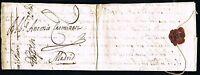 PREFILATELIA. BOLONIA A MADRID. 13 de Noviembre de 1657.