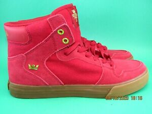 NWT Supra Vaider Men's Hi-Top Skateboarding Shoes Rose/Gold-LT Gum Mens Size 8.5