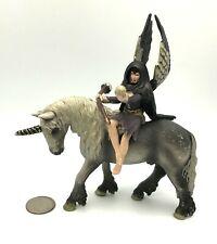 Schleich Bayala BILARA w/ UNICORN Rider Shadow Elf Mount Figure Retired 70413