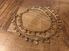 Feminine Jewelry Gold Plated Crystal Ankle Bracelet Indian Payal Pajeb Anklet