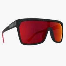 Spy Flynn Sunglasses Soft Matte Black Happy Grey Green with Red Flash