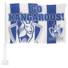 Licensed AFL North Melbourne Kangaroos CAR Flag includes Pole Fathers Day Gift